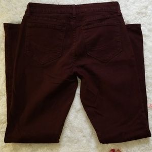 NYDJ High Rise Bootcut Burgandy 12